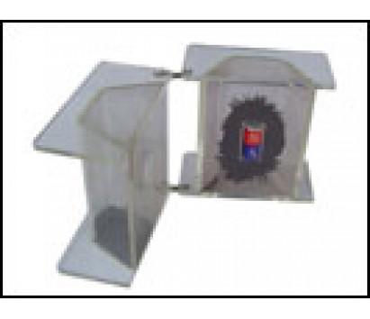 3D magnetic field iron filing demonstrator