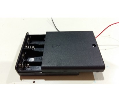 Battery case with switch and cover (4X AA size)