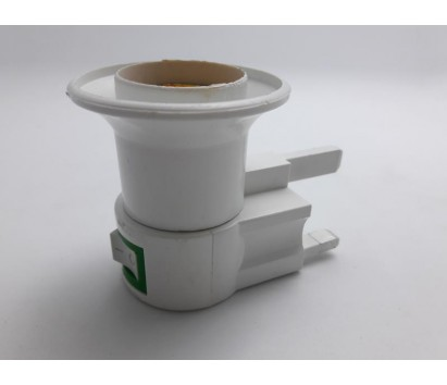 E27 bulb holder with 3-pin plug
