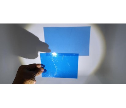 transparent blue plastic sheet