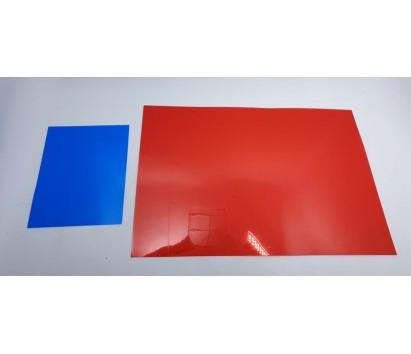 transparent red plastic sheet