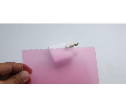 translucent red plastic sheet